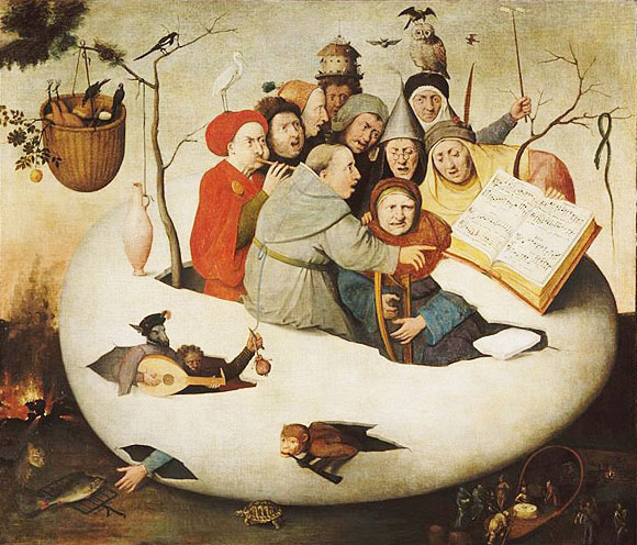 'Concert in the Egg' painting by Hieronymus Bosc'